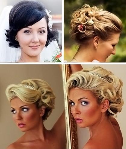Прически на свадьбу для коротких волос своими руками в домашних условиях